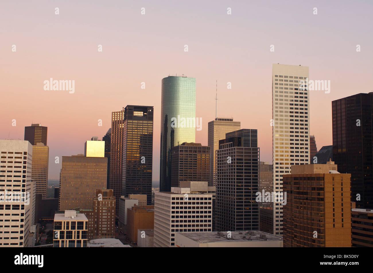 Skyline, Houston, Texas, États-Unis d'Amérique, Amérique du Nord Photo Stock