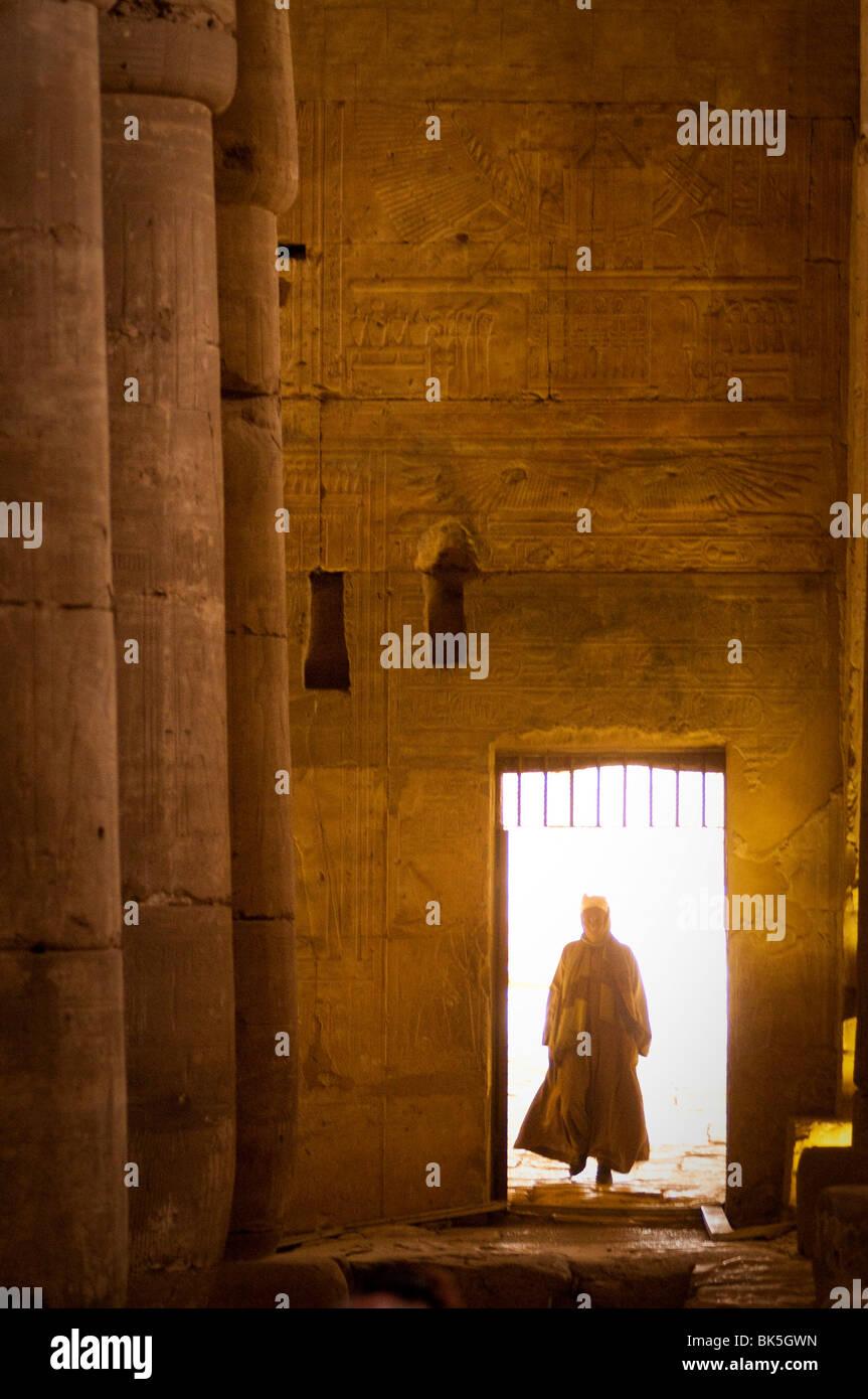 L'intérieur du temple de Seti I, Abydos, Egypte, Afrique du Nord, Afrique Banque D'Images