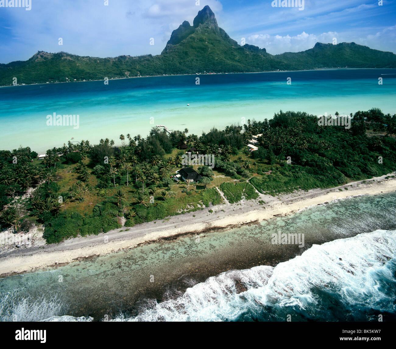 Bora Bora, îles de la société, Polynésie Française, Pacifique Sud, du Pacifique Photo Stock