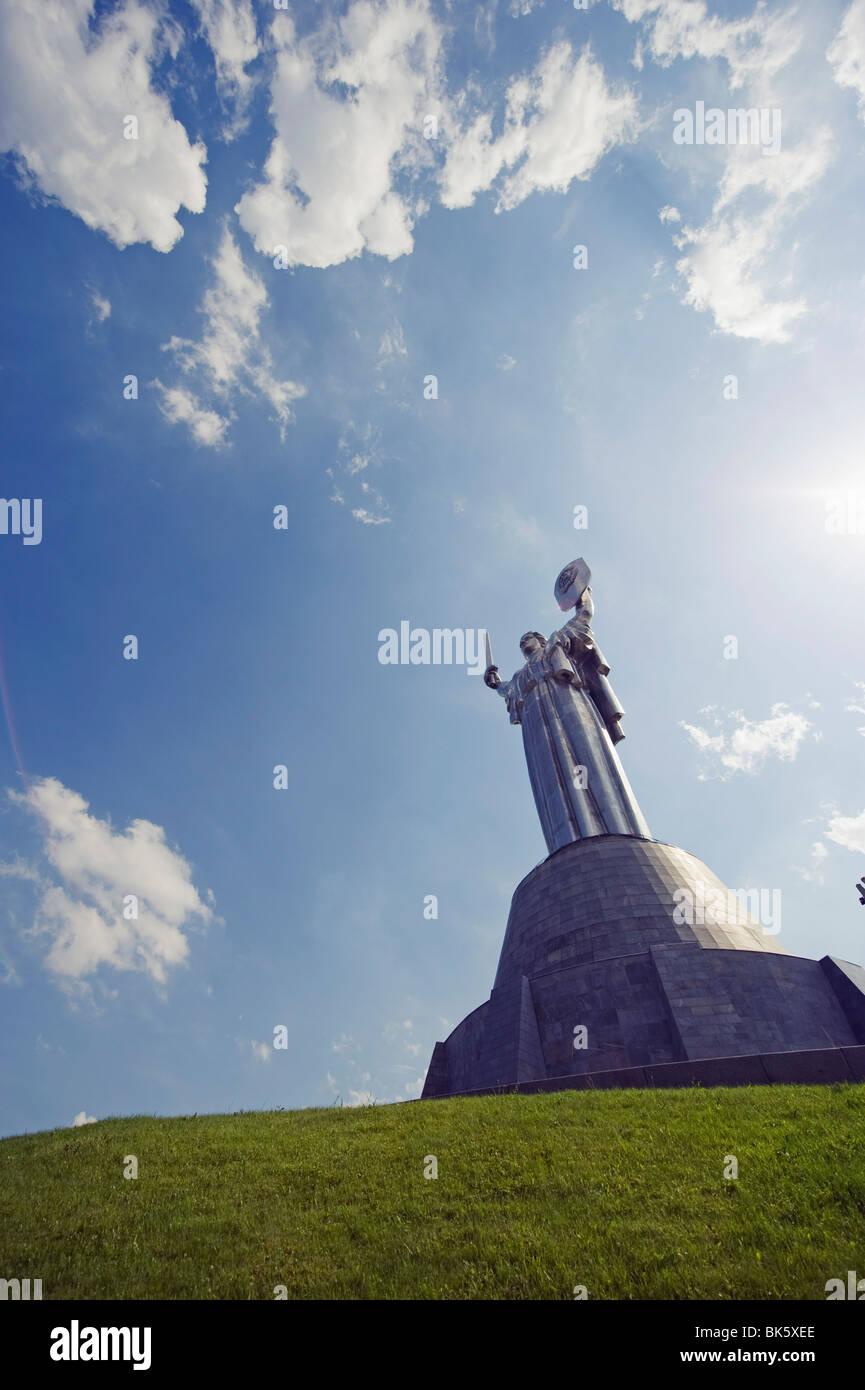 Rodina Mat, Nations Unies Mère Défense de la patrie monument, Musée de la Grande guerre patriotique, Kiev, Ukraine, Banque D'Images