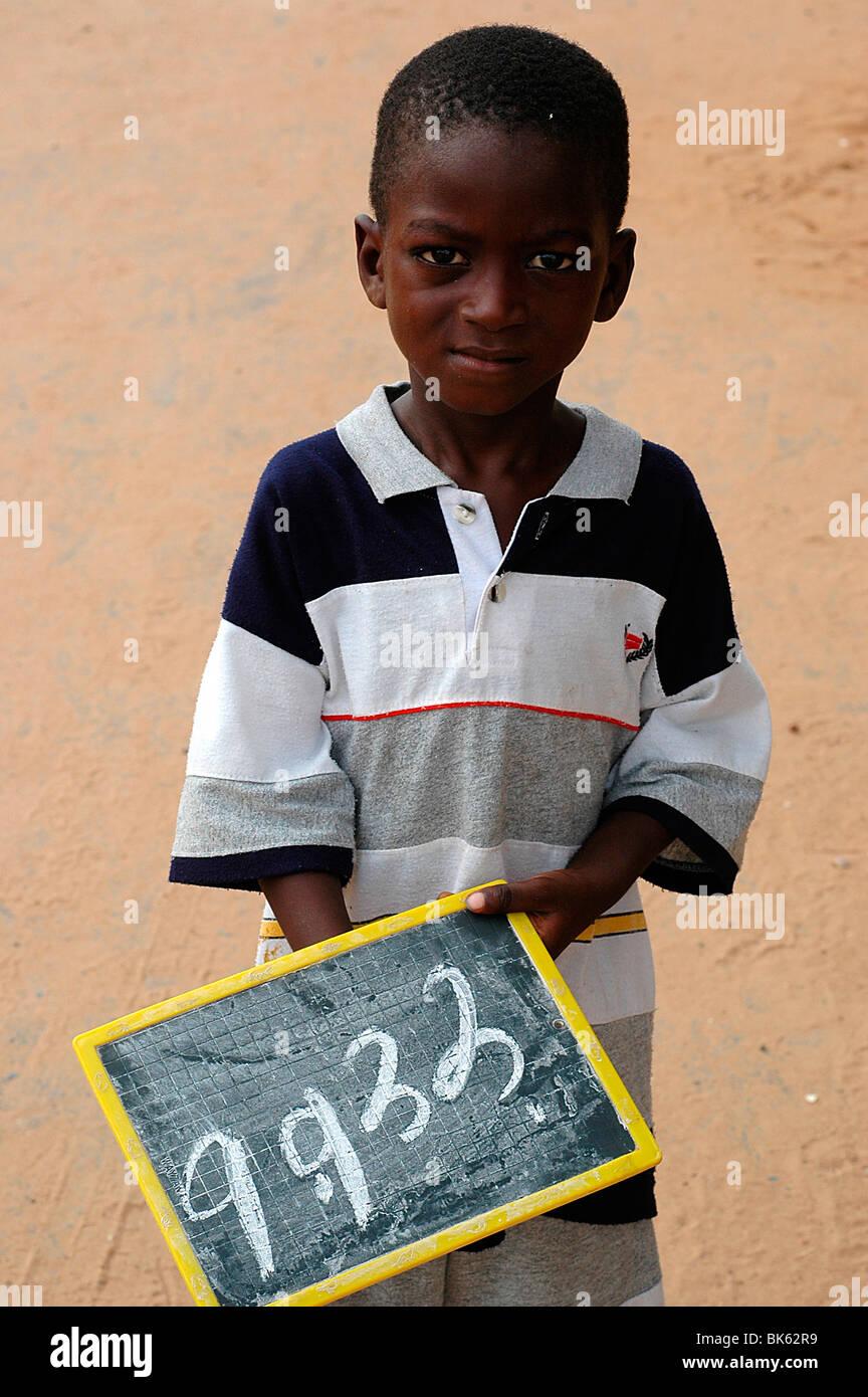 Écolier, Dakar, Sénégal, Afrique de l'Ouest, l'Afrique Photo Stock