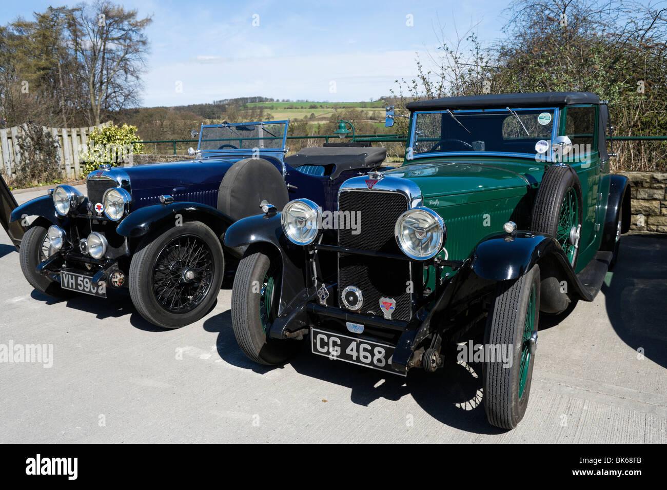 Alvis classique voitures dans le Yorkshire, Angleterre Photo Stock
