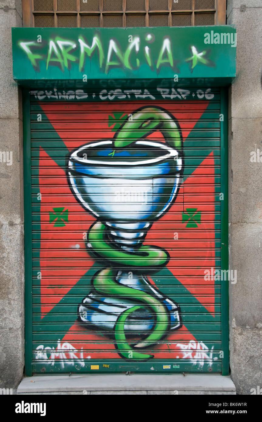 Espagne Madrid Espagnol médecine pharmacie Médicaments Médicaments Photo Stock