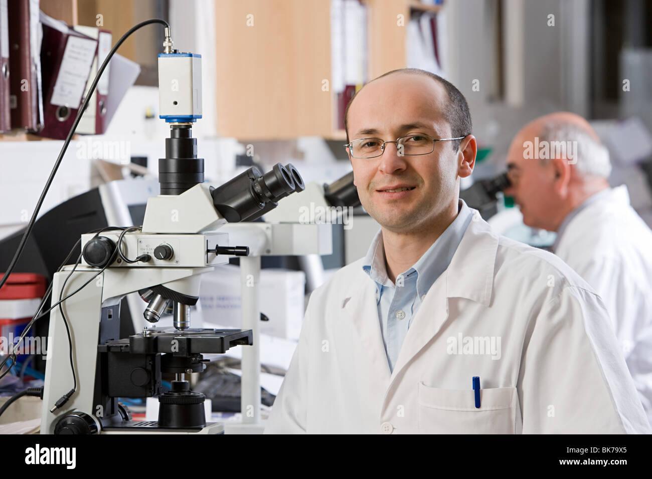 Laboratoire Technicien en Photo Stock