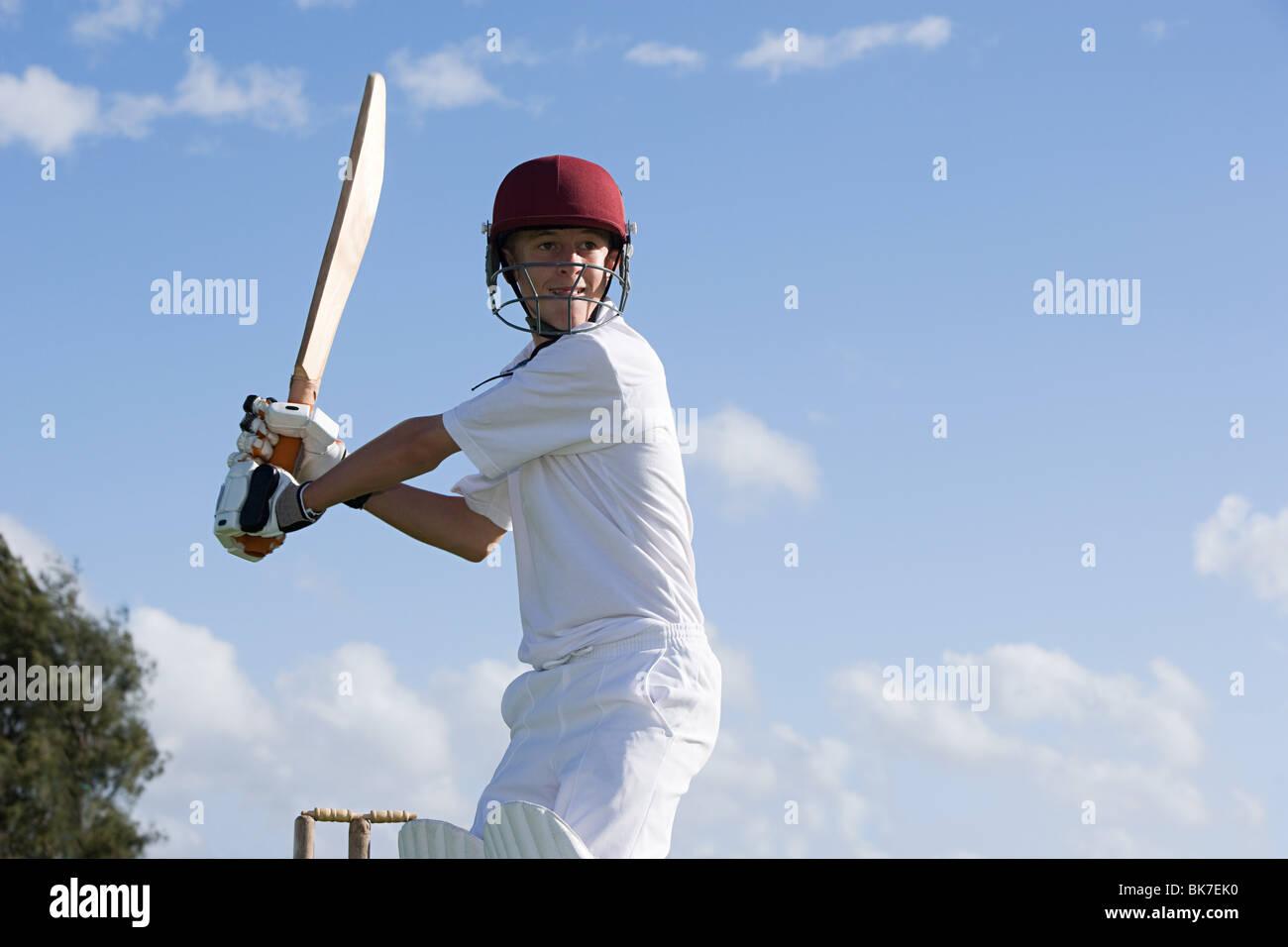 Auckland, joueur de cricket Photo Stock