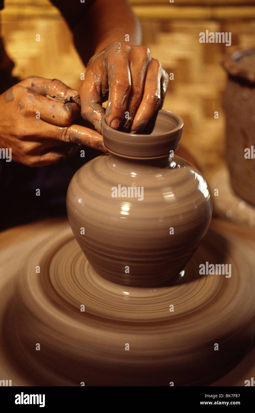 Tour de potier, Chiang Mai, Thaïlande, Asie du Sud-Est, Asie Photo Stock