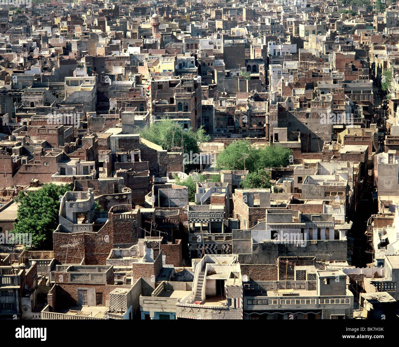 Maisons de la vieille ville de Delhi, Inde, Asie Photo Stock
