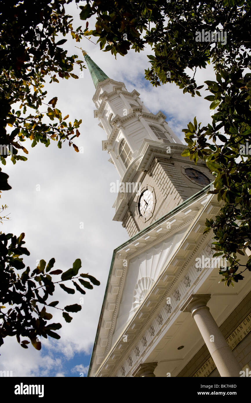 Eglise presbytérienne indépendante, Savannah, Géorgie Photo Stock