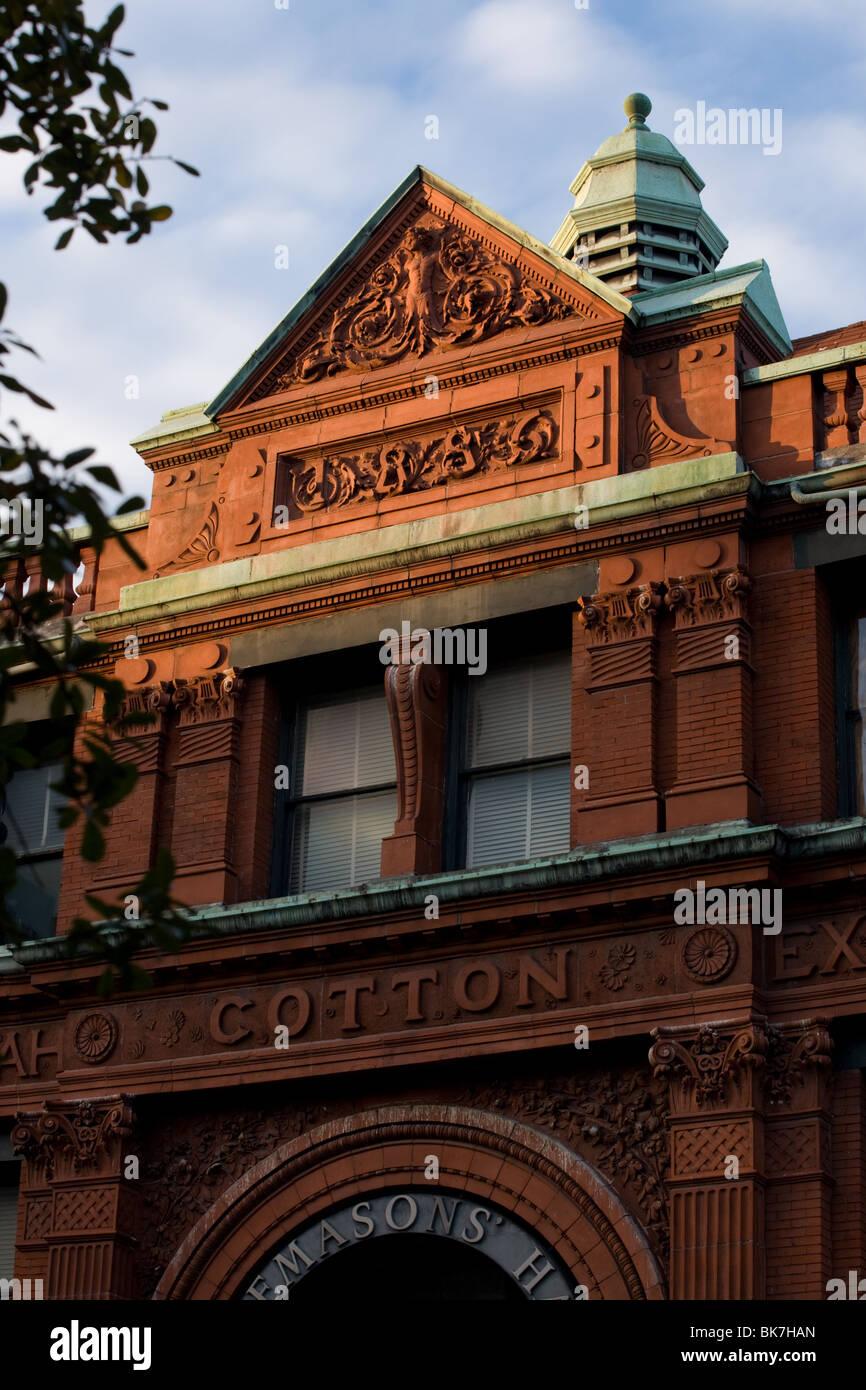 Ancienne Bourse du Coton Savane siège maintenant à la Chambre de Commerce, Savannah, Géorgie Photo Stock
