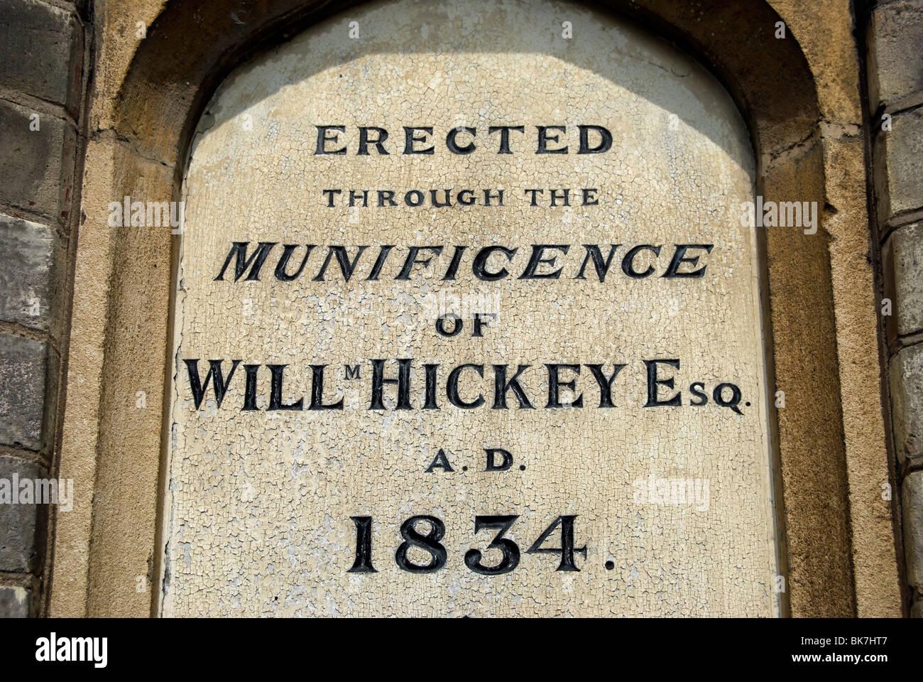 Pour la plaque de William hickey hospices, datant de 1834, Richmond upon Thames, Surrey, Angleterre Banque D'Images