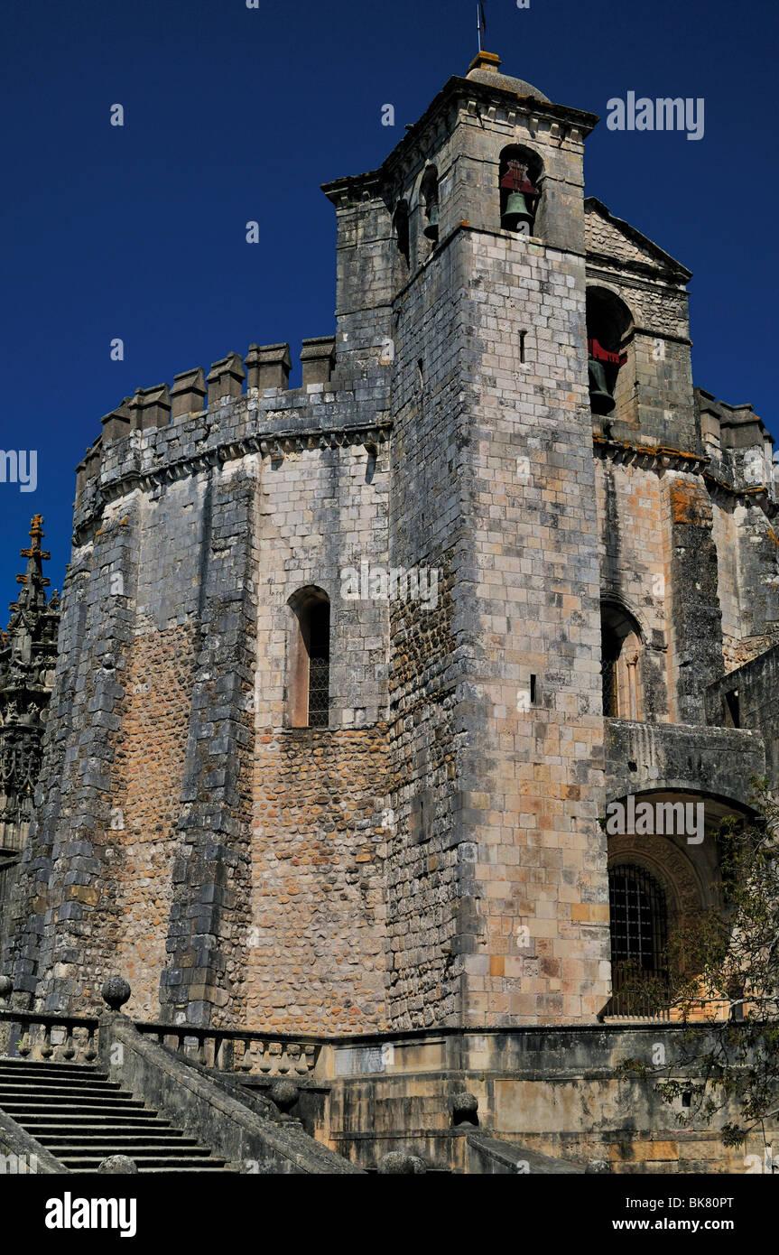 Le Portugal, Tomar: Ancienne église templière et couvent de l'Ordre du Christ Photo Stock