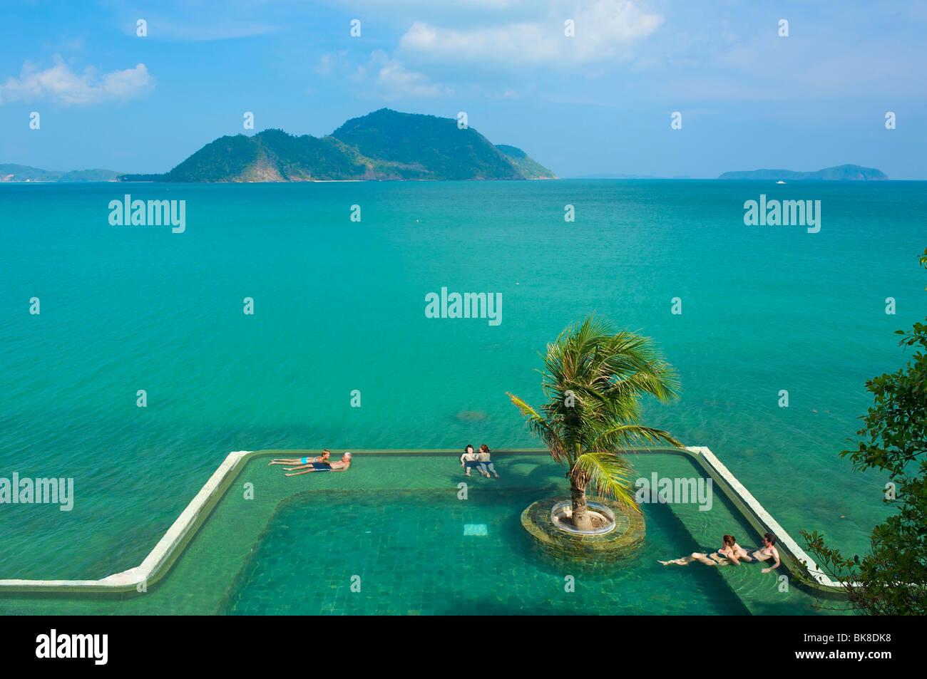 Hôtel Evason, piscine, l'île de Phuket, Thaïlande, Asie Photo Stock