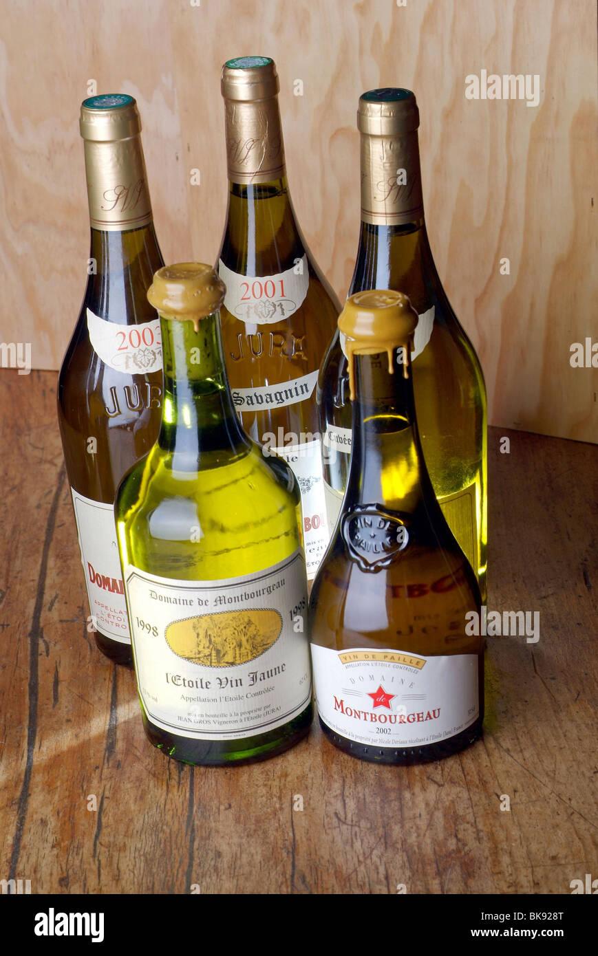 Vin blanc du Jura, domaine de Montbourgeau' property Banque D'Images
