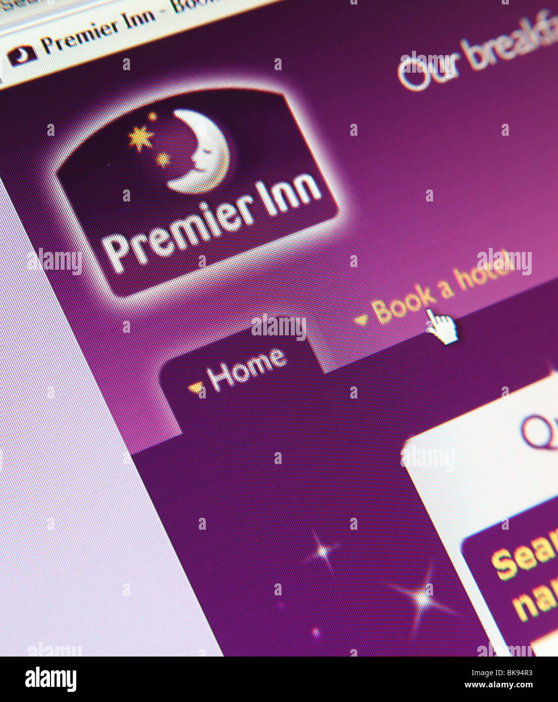 Premier Inn Page d'accueil du site Photo Stock