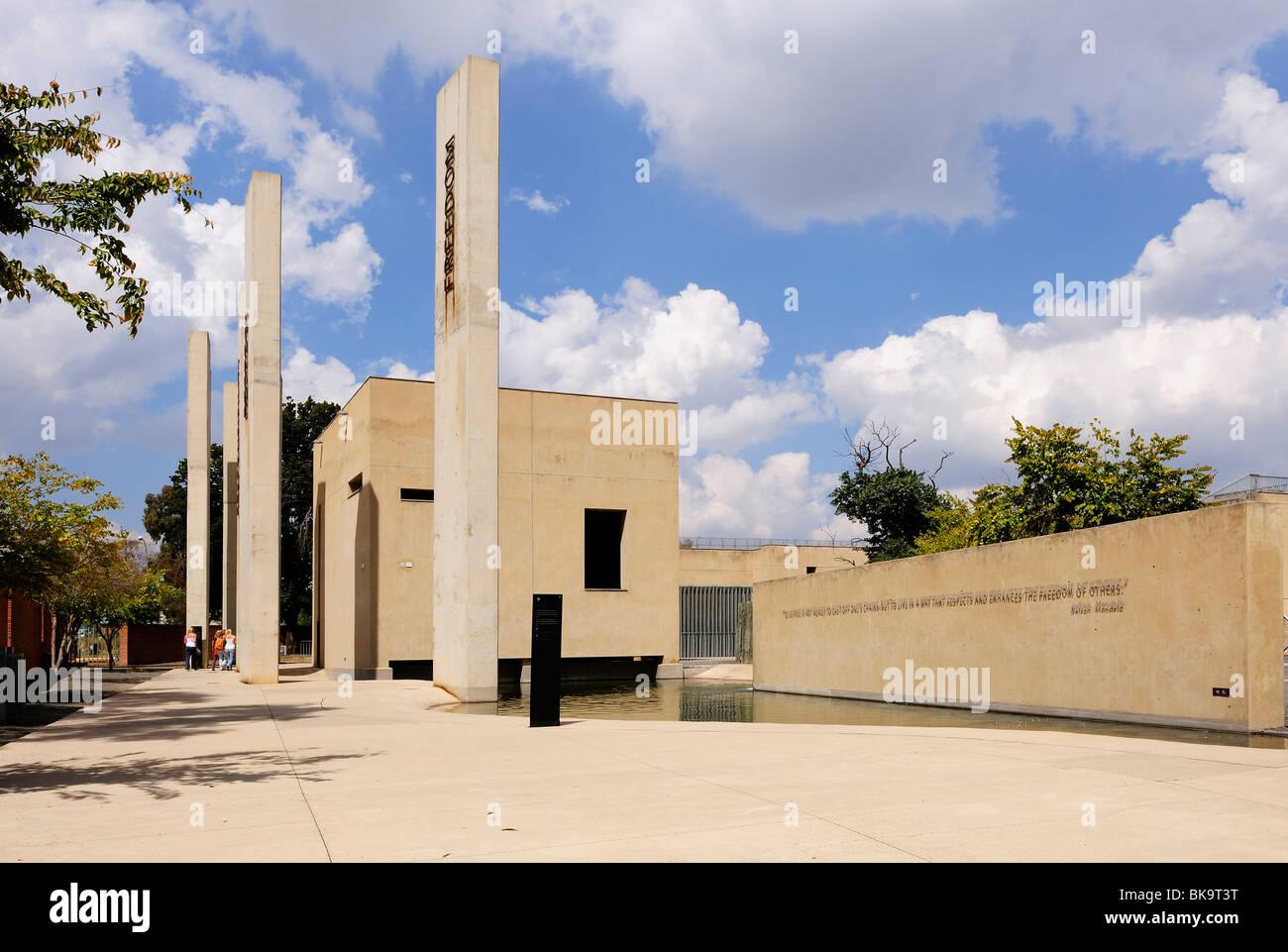 Musée de l'apartheid à Johannesburg, Afrique du Sud Photo Stock