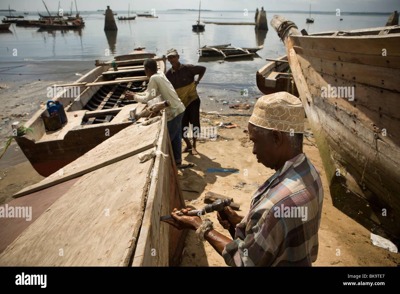 Shipyard - Stonetown, Zanzibar, Tanzanie. Banque D'Images