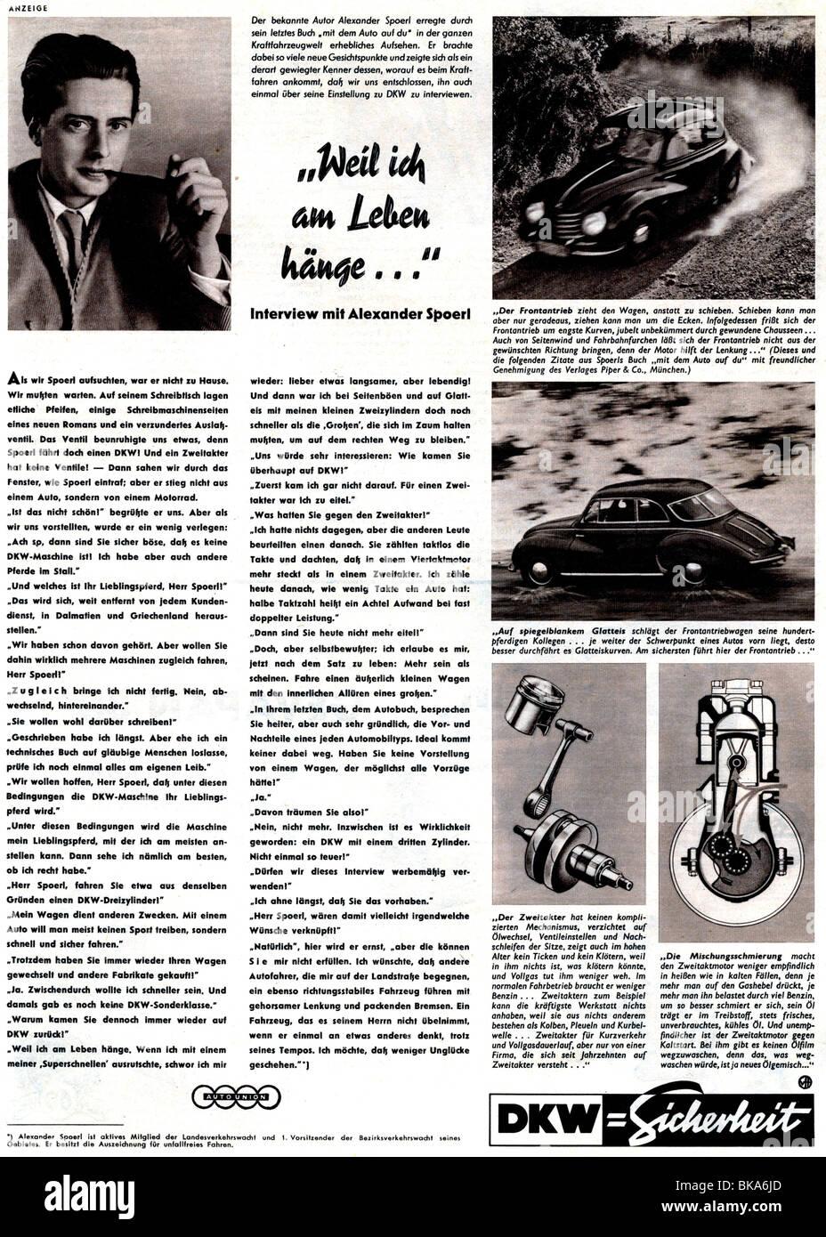 768e22d429e8 La publicité, voiture, DKW, annonce dans