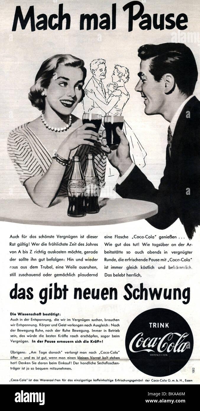 """La publicité, les boissons, Coca Cola, 'Mach mal Pause' (faire une pause), annonce dans """"der Stern' Photo Stock"""