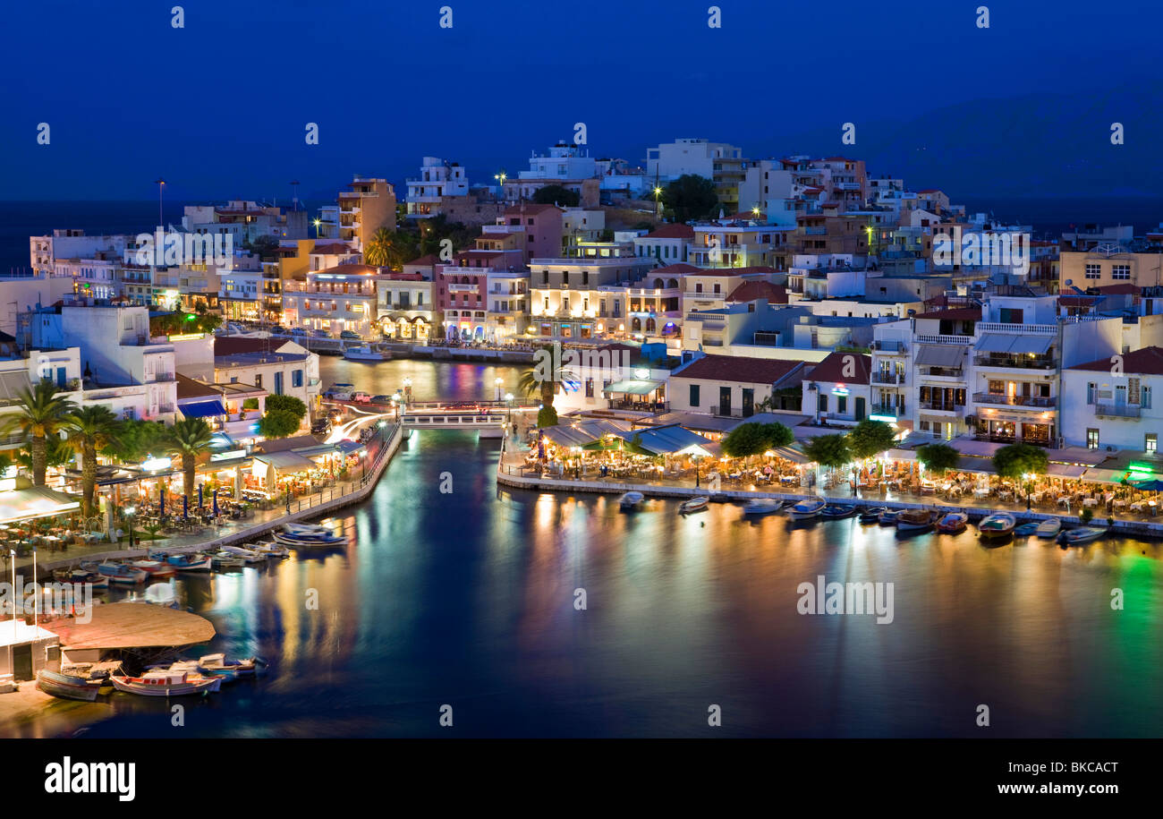 Agios Nikolaos Banque D'Images