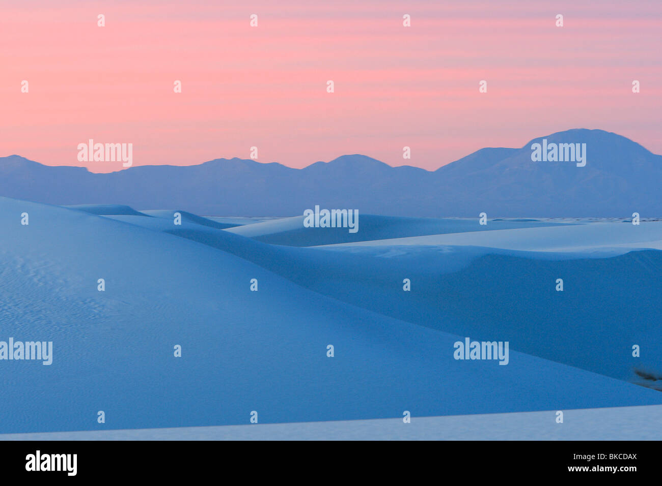 White Sands National Monument, Nouveau-Mexique. Photo Stock