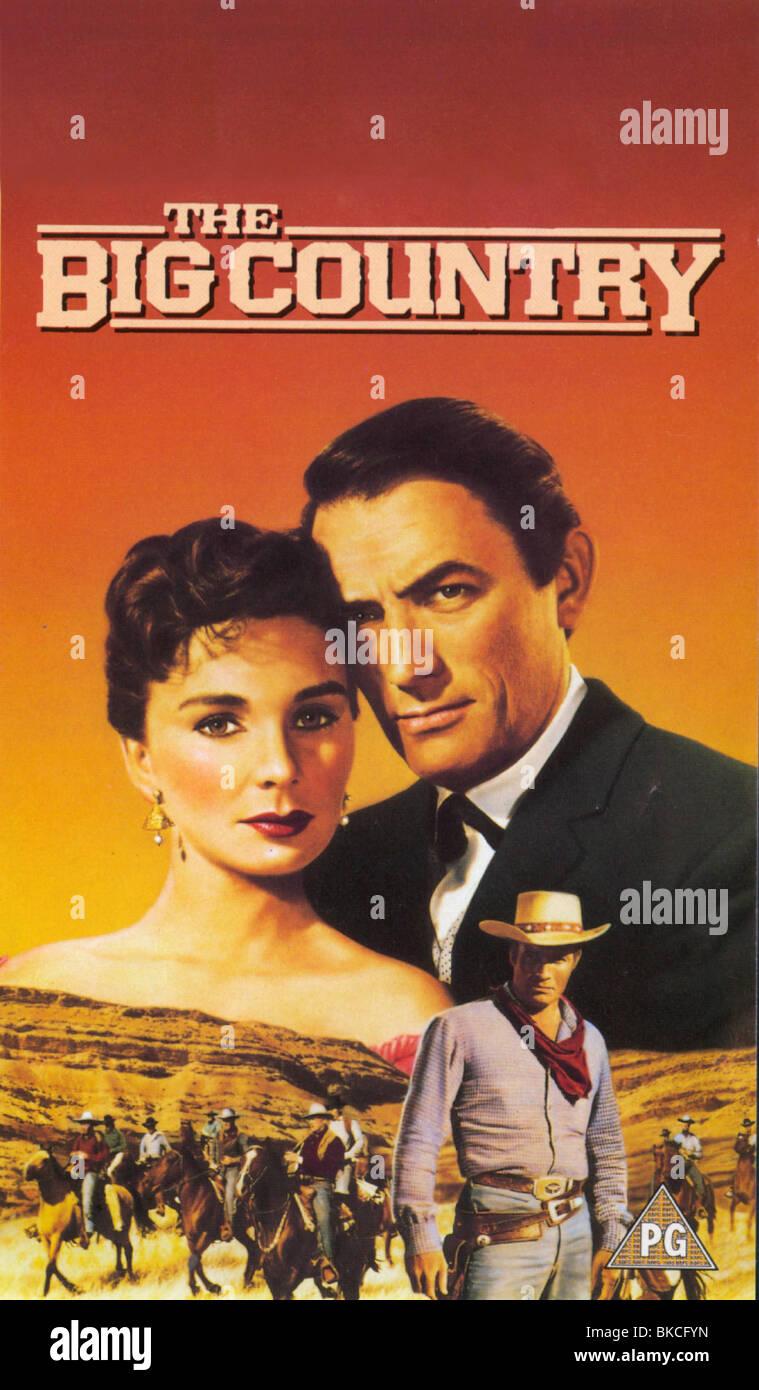Le grand pays de l'affiche -1958 Photo Stock