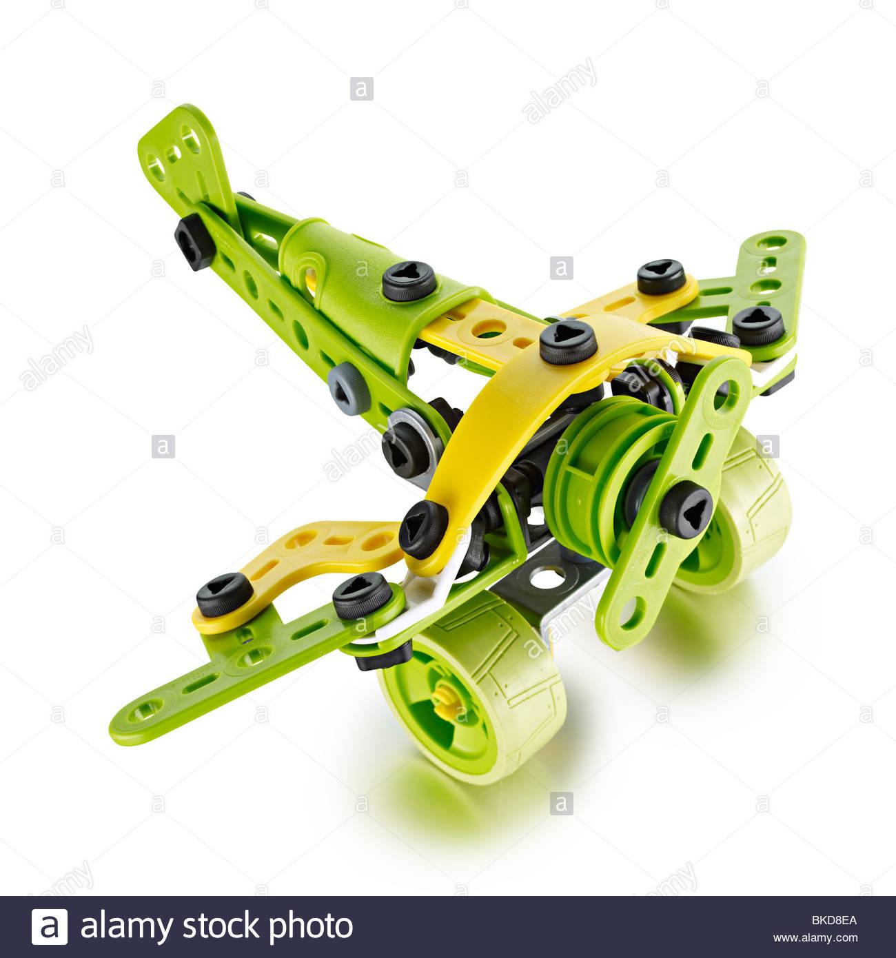 Avion meccano plastique Photo Stock