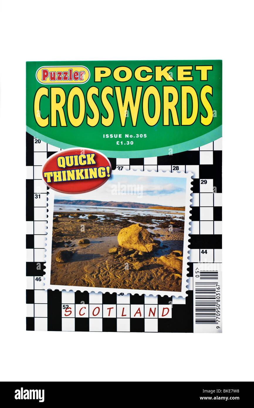 Petit livre de poche Jeu de mots croisés Photo Stock
