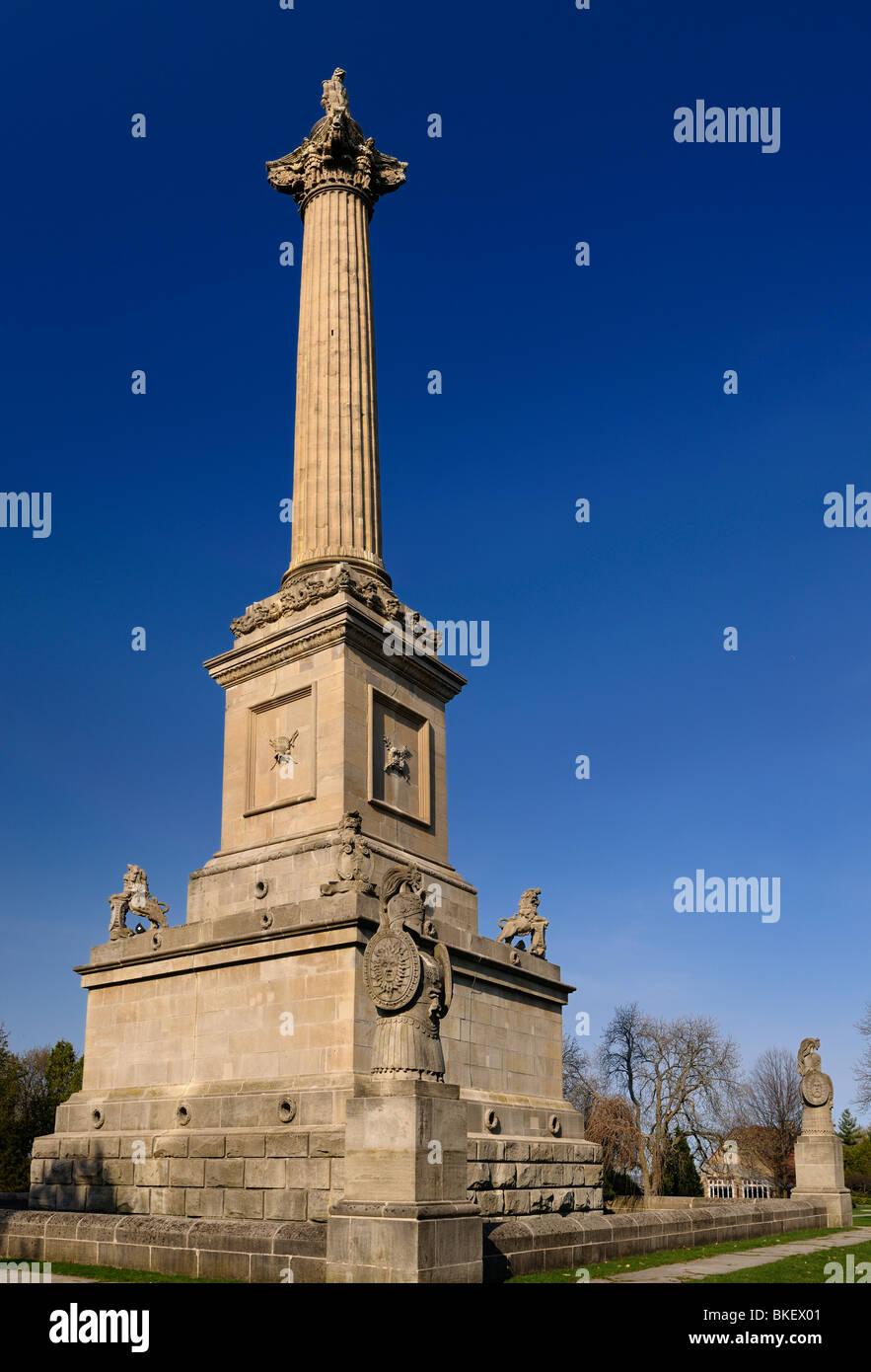Monument Brock et crypt avec escalier en spirale interne à Queenston Heights niagara ontario pour l'indépendance Photo Stock