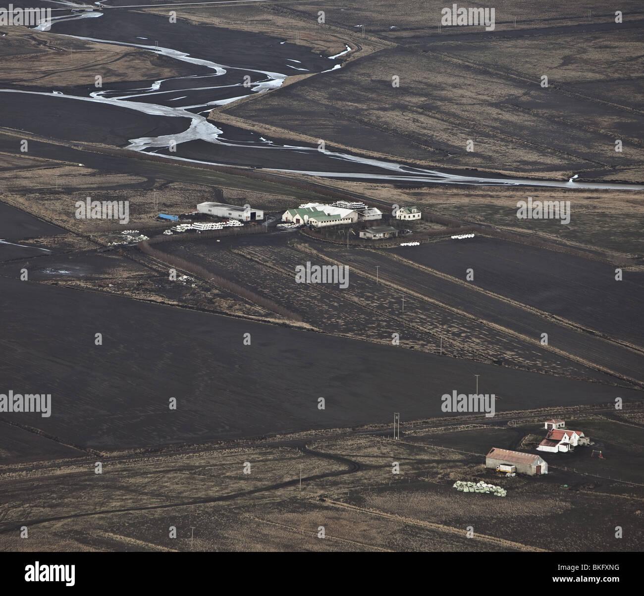 À partir de la chute de cendres Volcan Eyjafjallajokull en Islande, qui a débuté le 14 avril 2010. Photo Stock