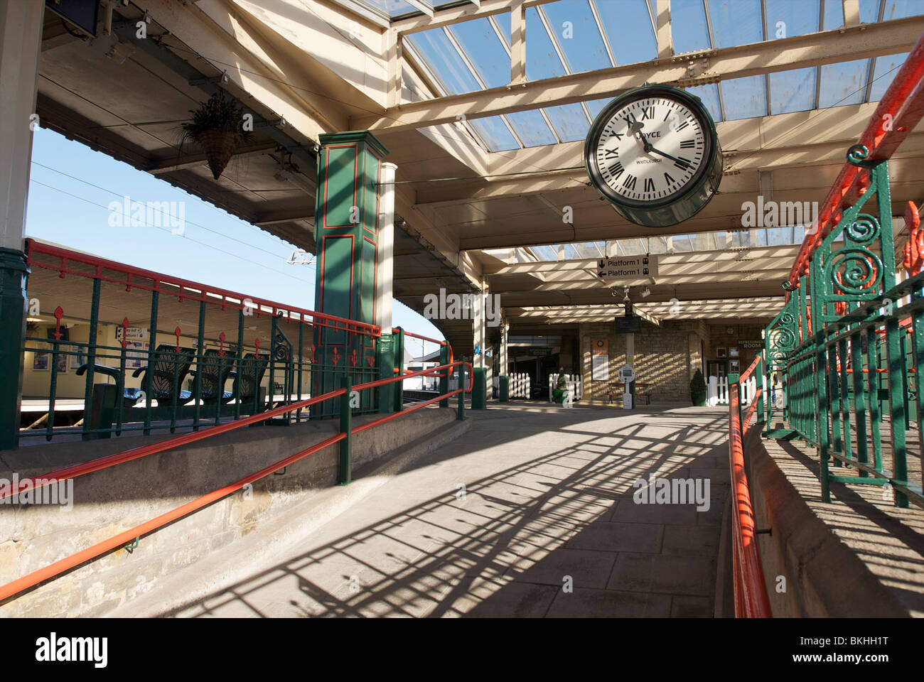 """Carnforth station sur la ligne principale de la côte ouest, pour la fameuse """"weepie' film brève Photo Stock"""