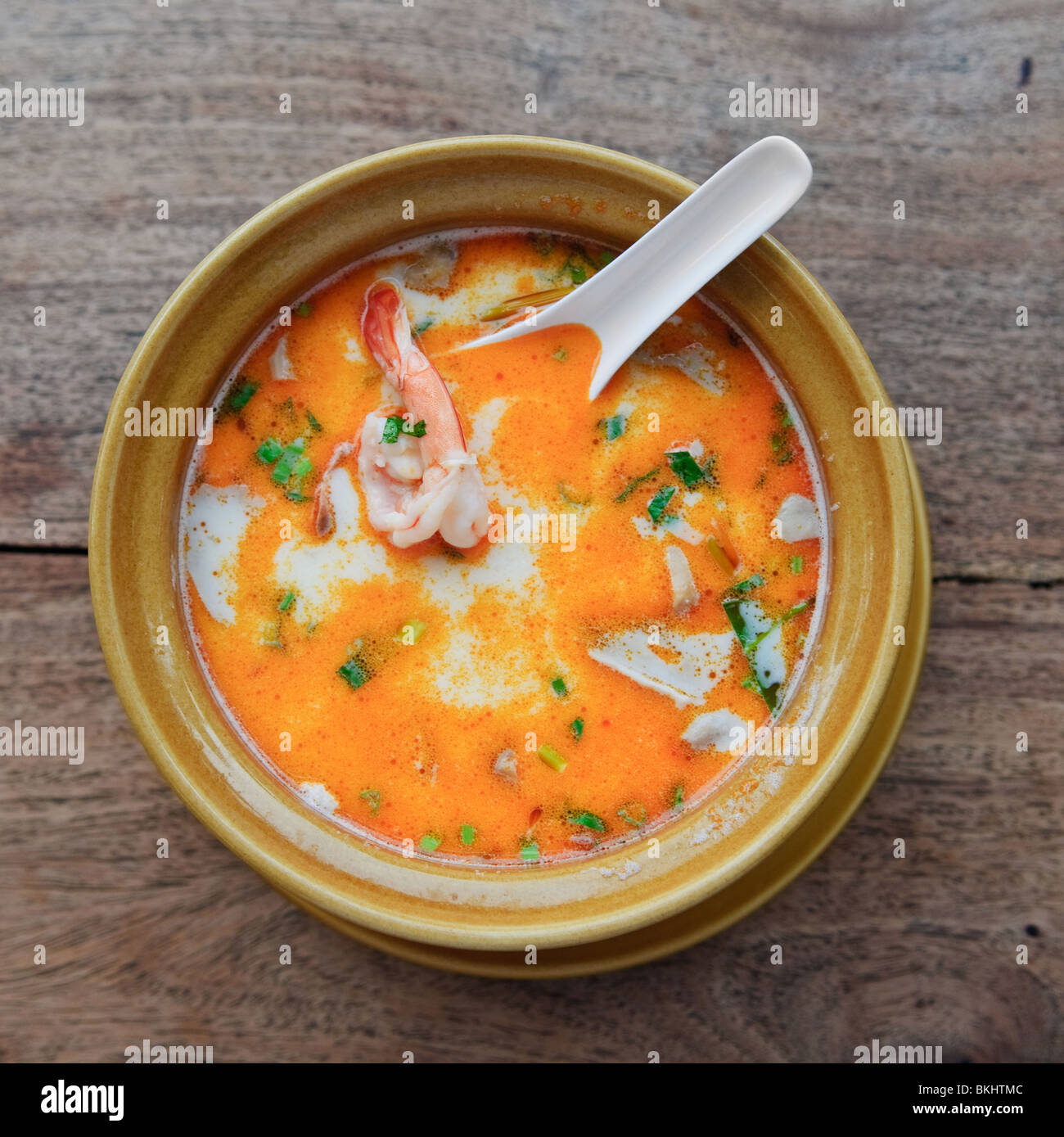 Traditionnel thaï soupe tom yam kung Photo Stock