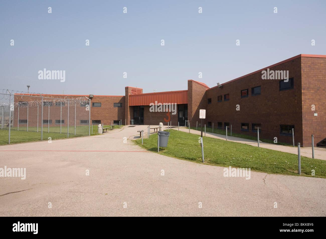 Logement à l'intérieur du pénitencier de l'État du Nebraska, Lincoln, Nebraska, USA. Photo Stock