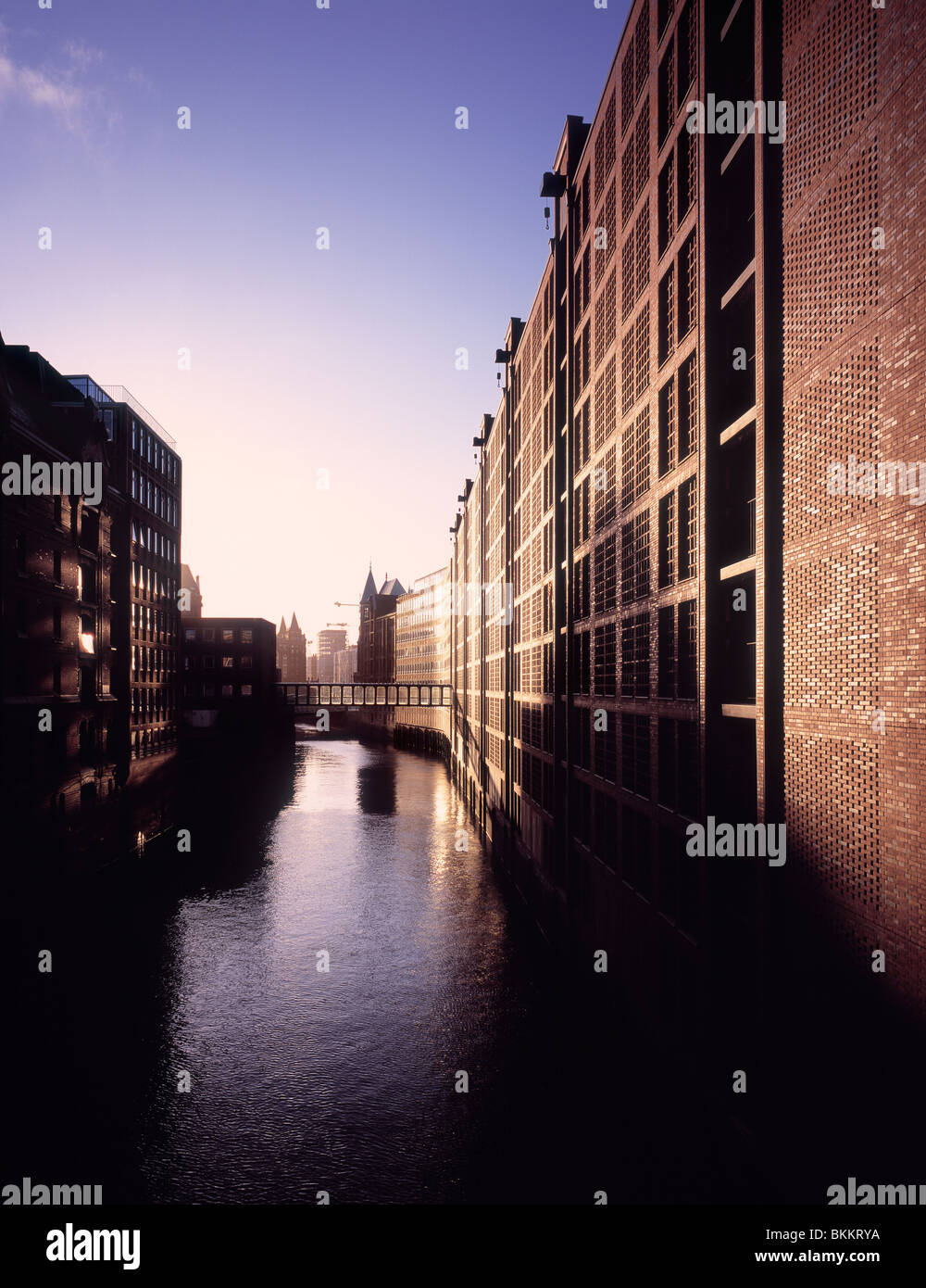 Rénové au rajeunissement des entrepôts Speicherstadt Projet de zone à Hambourg, Allemagne Photo Stock