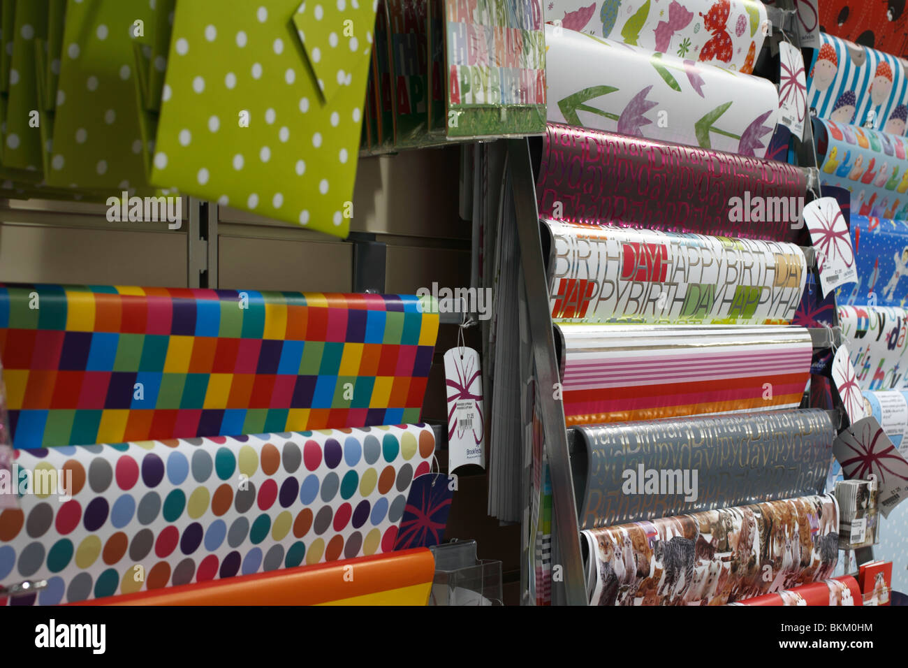 Brookfields wrapping paper Garden Centre Photo Stock