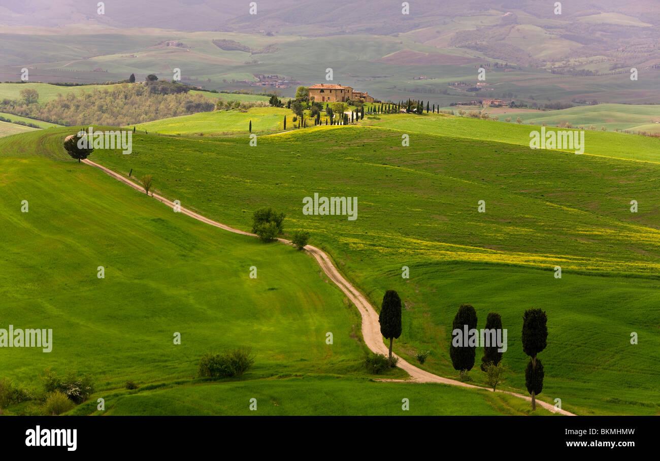 Paysage près de Pienza, Toscane, Italie Photo Stock