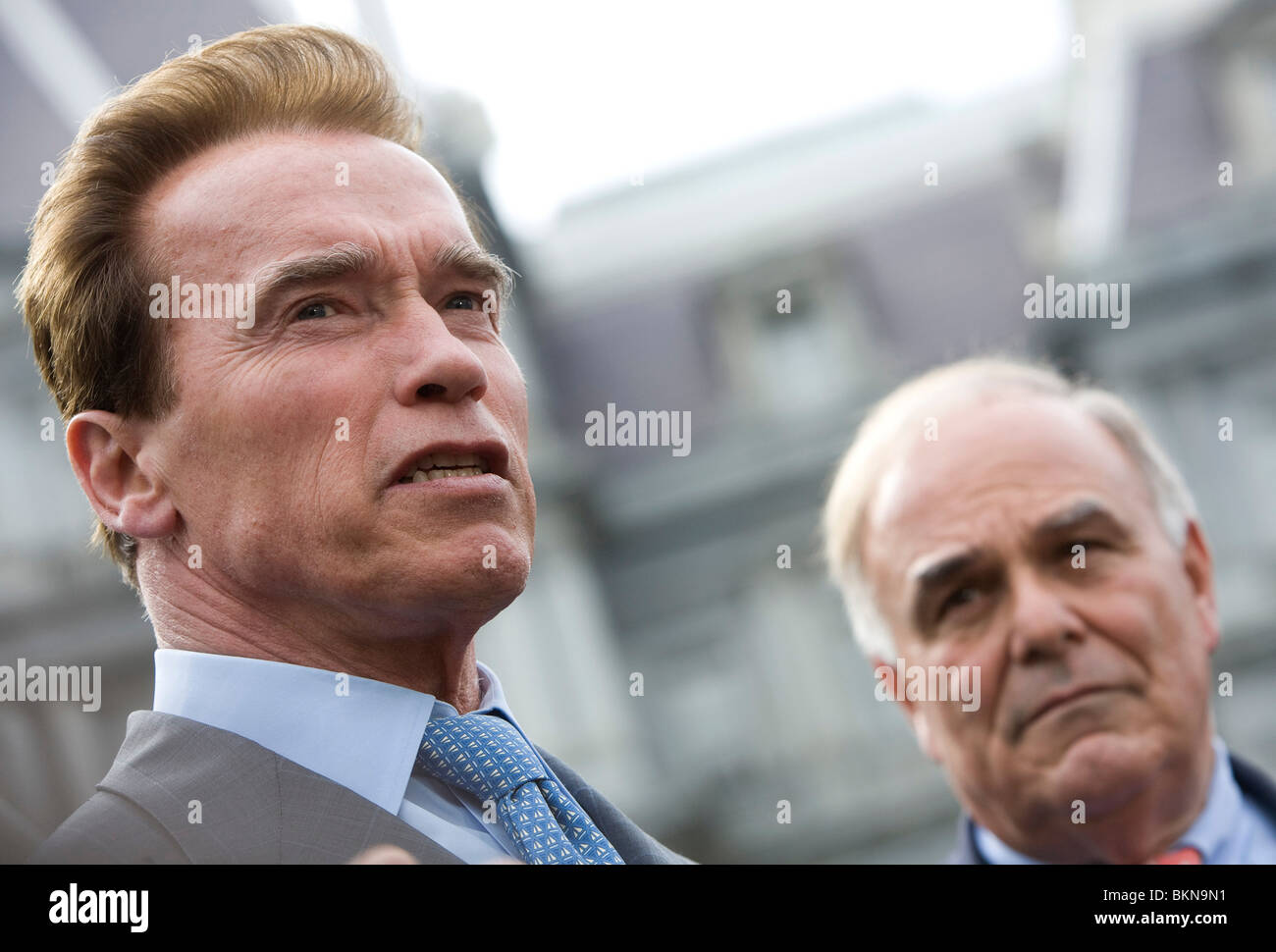 Le gouverneur Arnold Schwarzenegger. Photo Stock