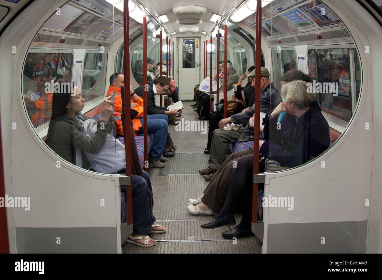 Bakerloo Line du métro de Londres Train Photo Stock