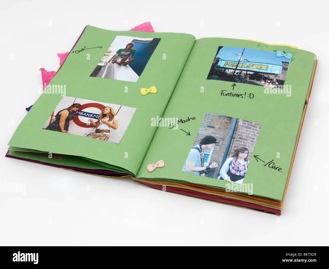 Un album d'adolescent Photo Stock
