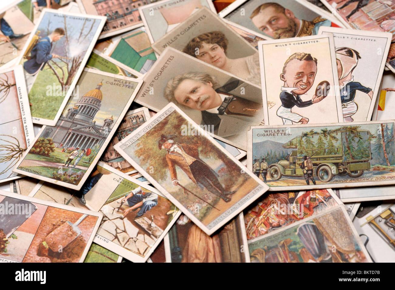 Cigarette Cards Photo Stock
