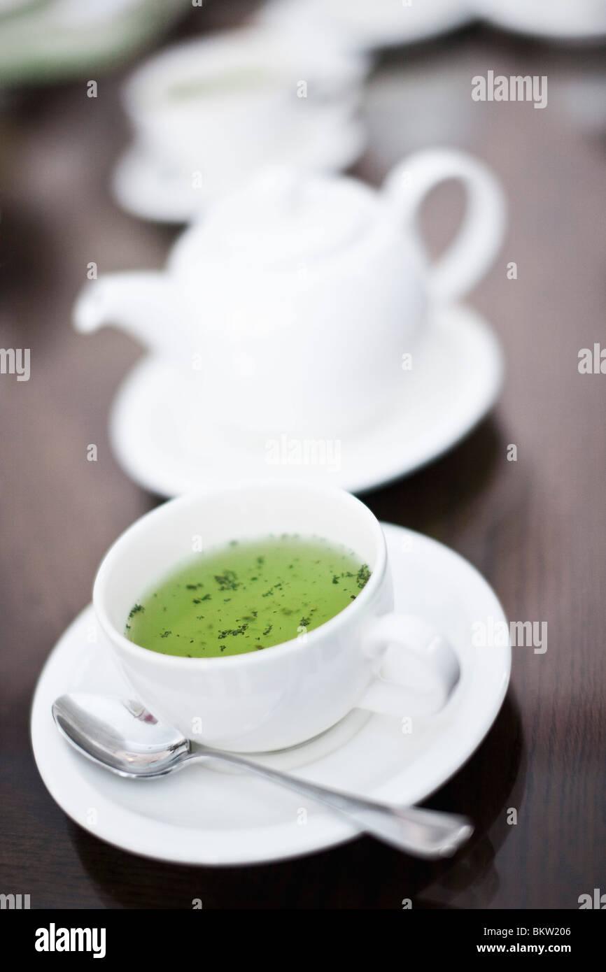Coup avec contenu vert Photo Stock
