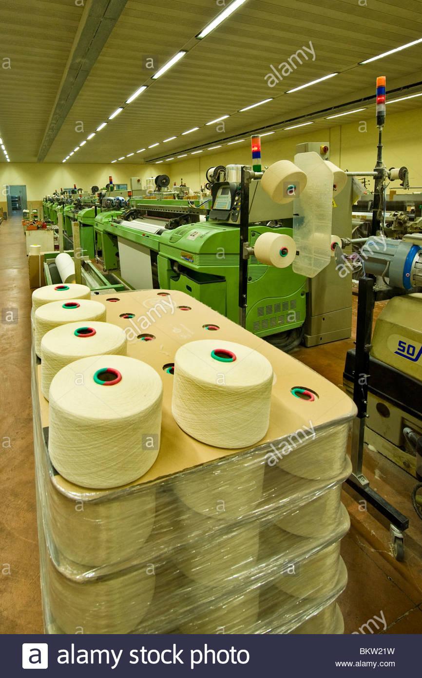 L'industrie textile,intesa tessuti,Italie,Lombardie,arconate Photo Stock