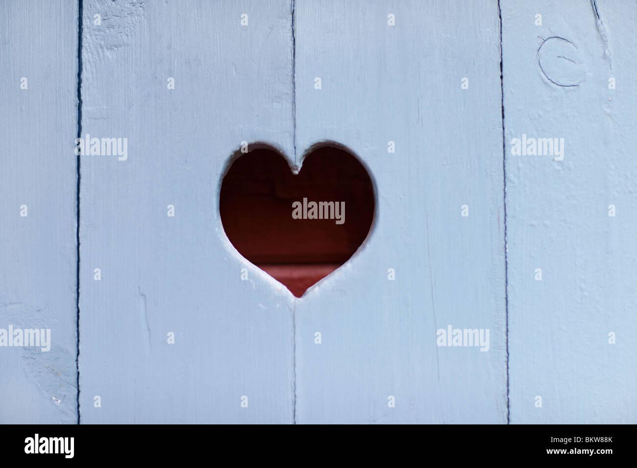 Coeur en bois Photo Stock