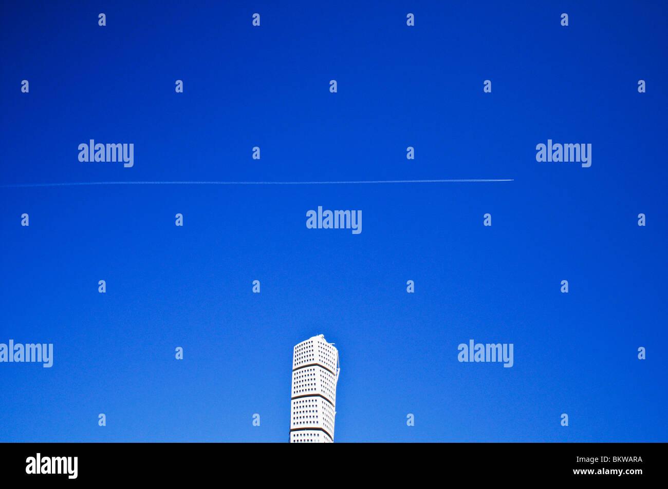 Building against blue sky Photo Stock