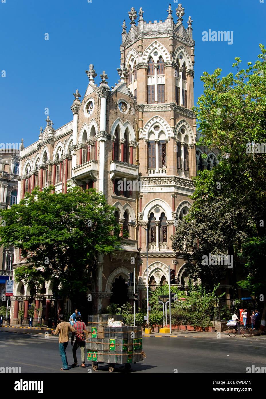 Bâtiment colonial à Mumbai, Bombay, Inde Photo Stock