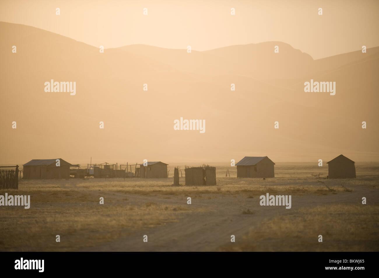 Purros vilage, Kaokoland, région de Kunene, en Namibie. Banque D'Images
