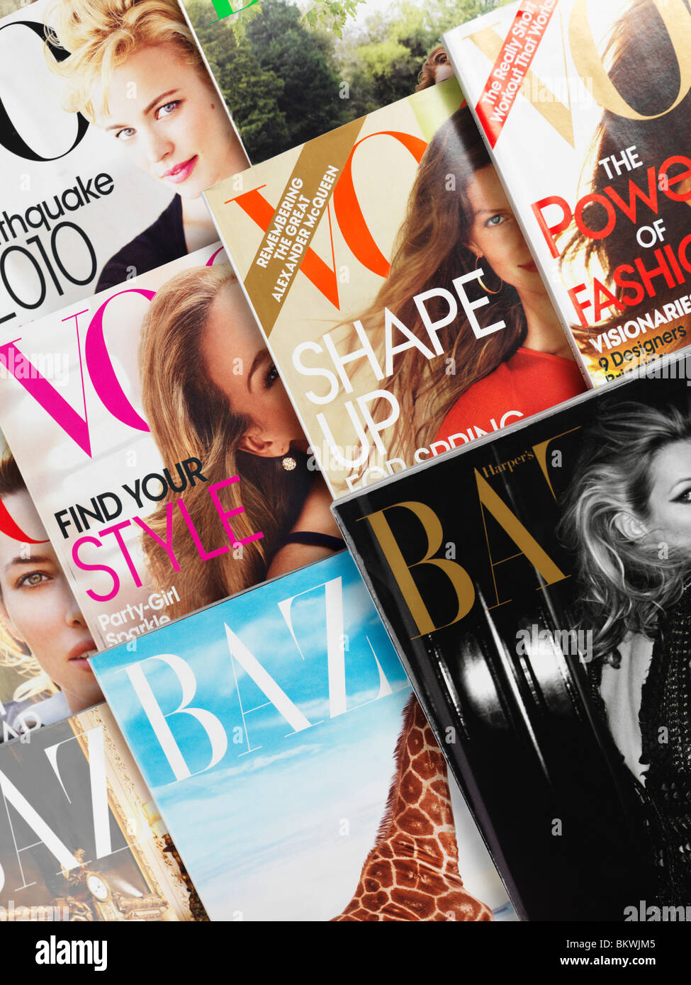 Vogue et Harper's Bazaar magazine de mode couvre Photo Stock