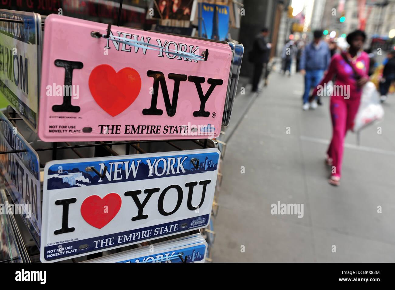 I Love NY .S.A N.Y New York La Big Apple Manhattan Photo Stock