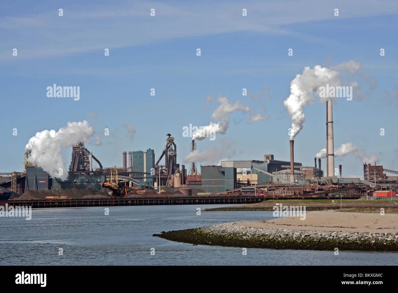 Koninklijke Hoogofens Staalfabrieken en Serrures à Ijmuiden Pays-bas Europe Velsen Banque D'Images
