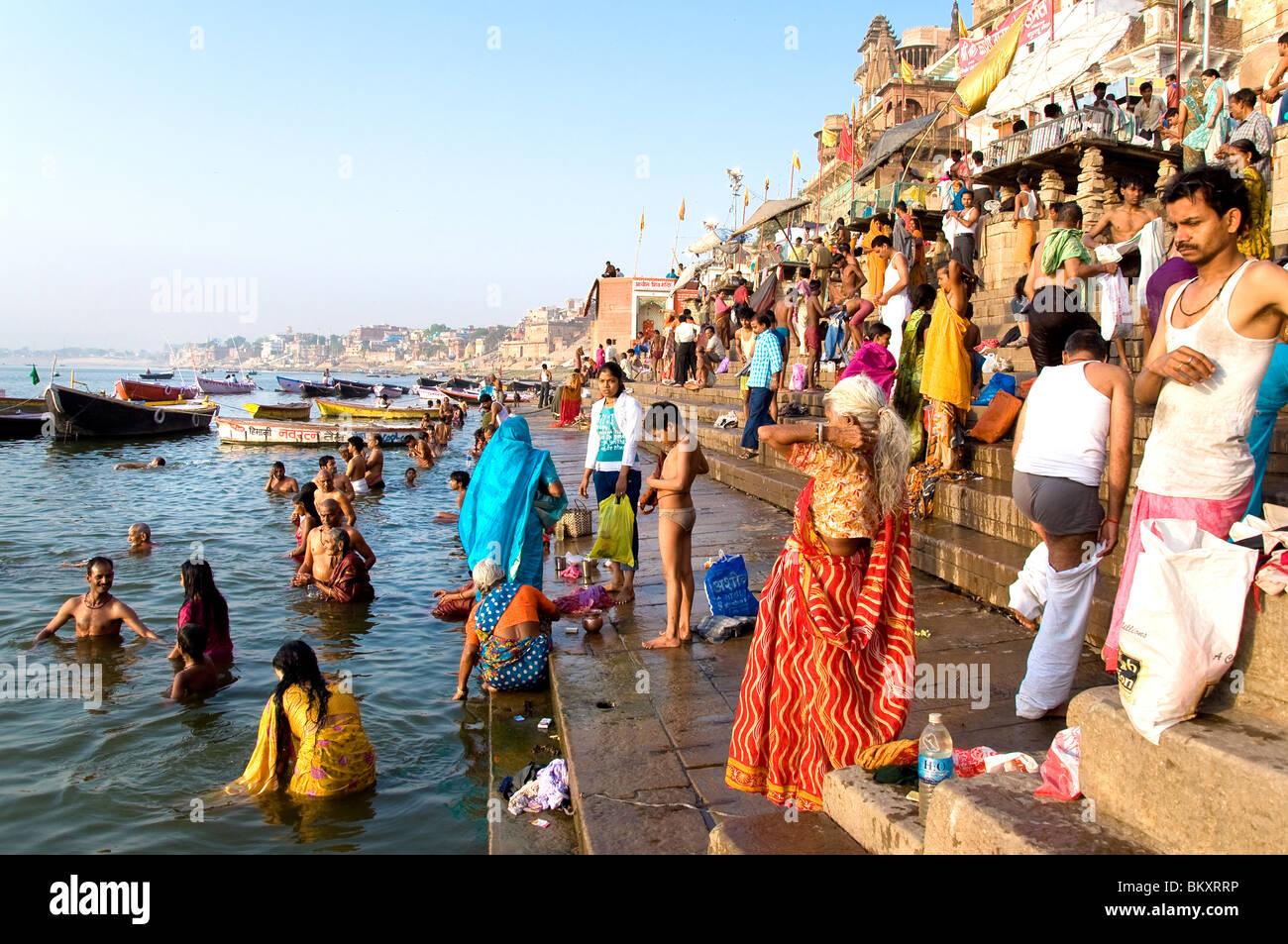 Varanasi, Uttar Pradesh, Inde, Photo Stock
