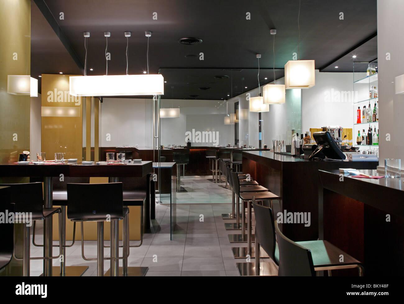 Restaurant Japonais Contemporain A Milano Banque D Images Photo